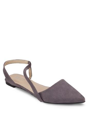 Kimberley 尖頭繞踝平底鞋esprit 會員, 女鞋, 芭蕾平底鞋