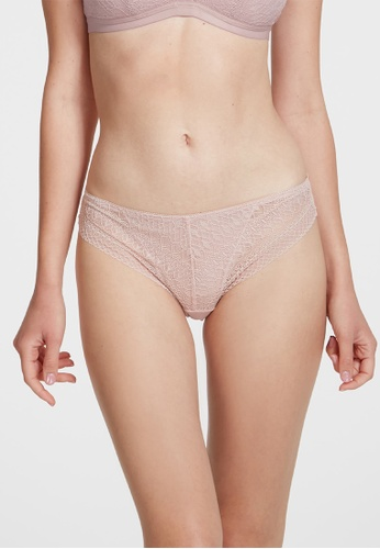 6IXTY8IGHT pink NEPTUNE SOLID, All-over Lace Cheeky Panty PT10709 B23B0US97B7FB8GS_1