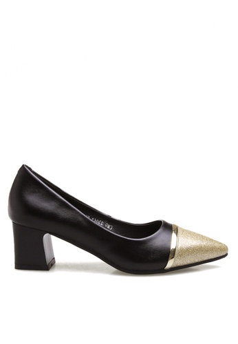 Twenty Eight Shoes Gleaming Toe Cap Mid Heel Pumps VL9168 TW446SH2VP07HK_1