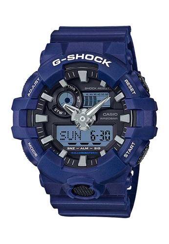 CASIO blue Casio G-Shock Black and Blue Resin Watch C87D1AC8277D6BGS_1