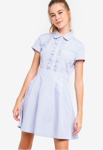 Something Borrowed blue Ruffles Front Shirt Dress 65A15AA13241F0GS_1