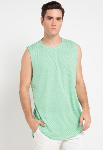 B-Side by Bleach Project multi Striped Scoop Muscle Tee BS692AA0VRRKID_1