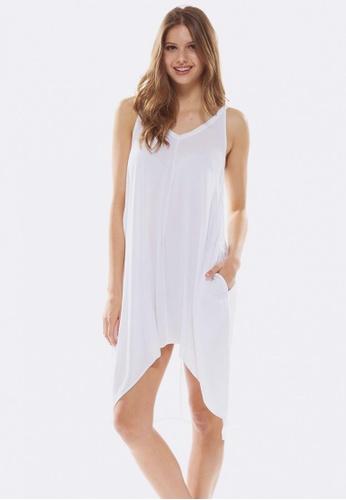 Deshabille white Palm Dress F00B3AA9C0F5A7GS_1