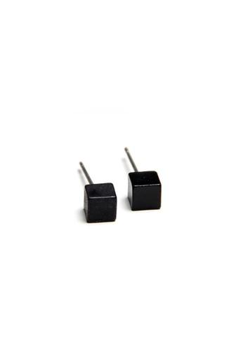 Kimberley black Cube Ear Stud KI026AC15TIEPH_1