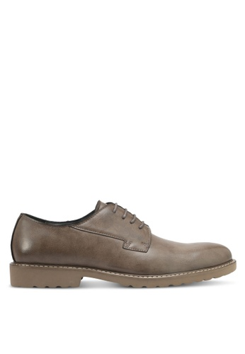 ZALORA brown Faux Leather Brogues 049E4SH2094872GS_1