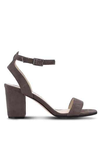 ZALORA grey Ankle Strap Heeled Sandals 14AF1SH7875BEDGS_1