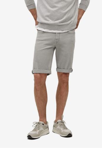 MANGO Man grey Stretch Cotton Denim Shorts 0325AAAF99BE7FGS_1