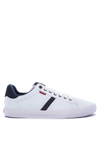 Levi's white SKINNER CANVAS/PU Sneakers 9D604SH2E9876AGS_1