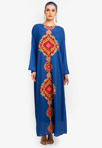 Tom Abang Saufi for ZALORA blue Grace Kaftan C1A9BAA042FCCAGS_1