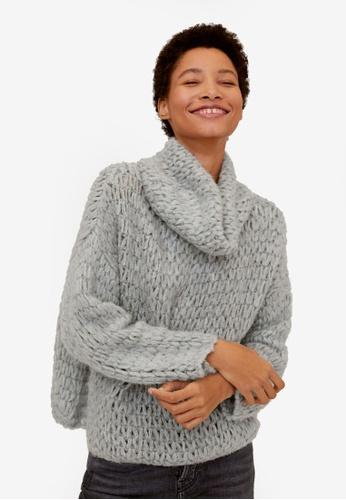 Mango grey Cowl Neck Sweater 3CD51AAD6AFAF6GS_1