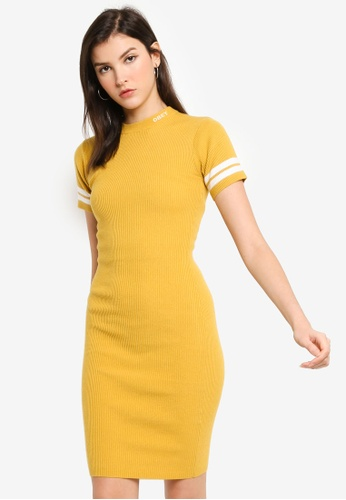 OBEY green South Slope Dress BA351AA9ABAE9DGS_1