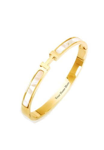 CELOVIS gold CELOVIS - Caterina Mother of Pearl Bangle in Gold 15710ACEAD0BA6GS_1