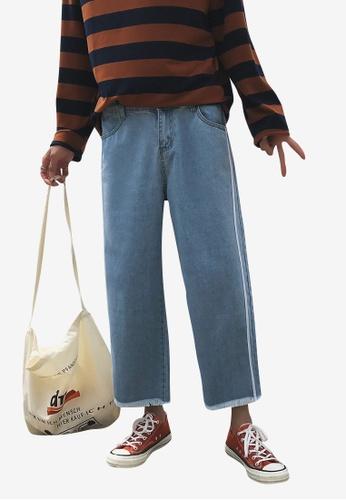 hk-ehunter blue Men Relax Fit Strips Jeans 5737DAA94A4BD7GS_1