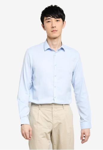 KOTON blue Long Sleeve Shirt D16C8AA4FCB80DGS_1