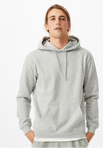 Cotton On grey Essential Fleece Pullover 6BF34AA5C1BFC4GS_1