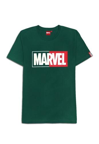 MARVEL green MARVEL Genuine Unisex Men Female Avengers T Shirt Dark Green VIM20684U EF4BBAAC799FF3GS_1