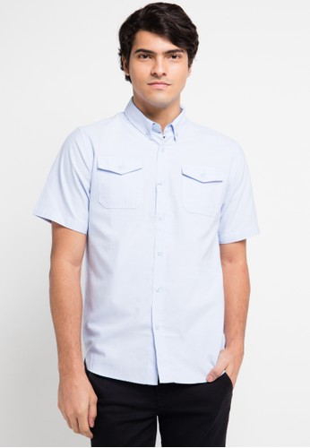 Contempo blue Men Shirt S/S Casual CO339AA0VD4NID_1