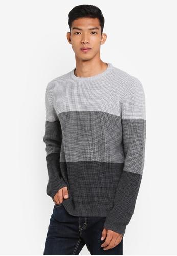 Cotton On grey and multi Split Hem Knit Pullover B45B5AA48925AFGS_1
