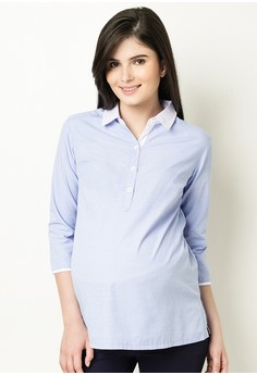 Quarter Sleeves Collared Shirt