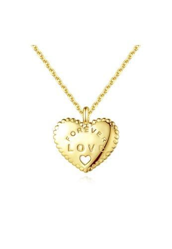 SUNRAIS gold Premium Silver S925 Gold Heart Necklace 5DA03AC68B28FFGS_1