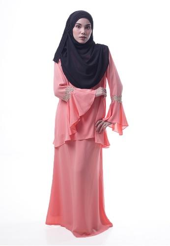 Denai Boutique orange Baju Kurung Esra C2EEAAA9364539GS_1