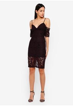 eccc78bfbb6d 75% OFF Bardot Taegen Midi Dress RM 551.00 NOW RM 137.90 Sizes 12