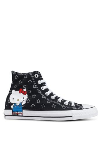 ff998c6e808 Converse black Chuck Taylor All Star 70 Hello Kitty Hi Sneakers  49EA8SHF255054GS 1