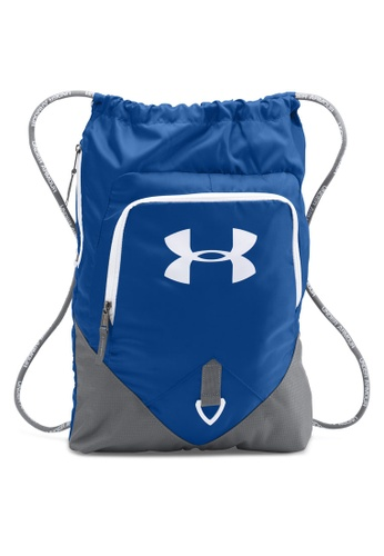 Under Armour grey and blue UA Undeniable Sackpack UN337AC06ANTMY_1