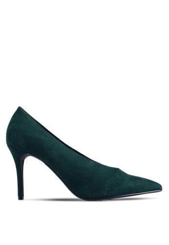 Dorothy Perkins 綠色 Green Microfiber Gatsby Court Heels C4D04SHDC8A2A4GS_1