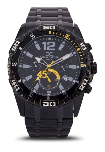 Carlo Cardini black Carlo Cardini Watch 4024G-BLK-4 CA038AC99IZCMY_1