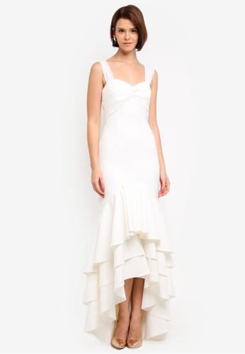 JARLO LONDON white Snow Dress 99B3CAA707A180GS_1