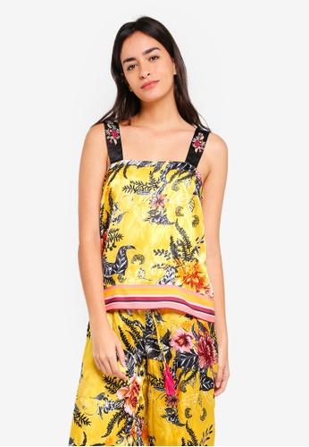 River Island yellow Floral Cami Pyjama Top F189CAAEF1ED59GS_1