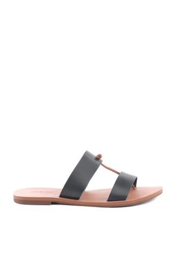 Anacapri black Relax Flat Sandals 3FBDCSH3E794BBGS_1
