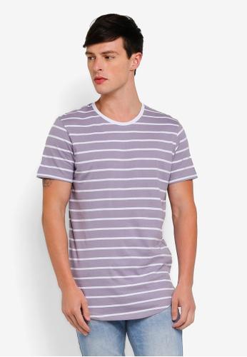 Factorie 多色 Curved Stripe T-Shirt 6D0A9AA90EF8C7GS_1
