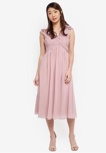 Little Mistress pink Empire Prom Dress 874B3AA9D83B2FGS_1
