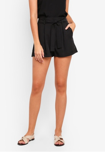 ZALORA black Tailored Paper Bag Shorts 66D35AA91982C0GS_1