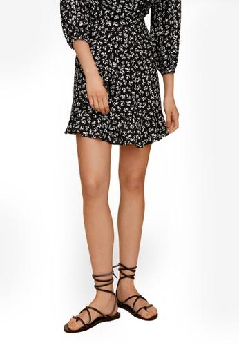 Mango black Short Flared Skirt 2BFF3AAB34C886GS_1