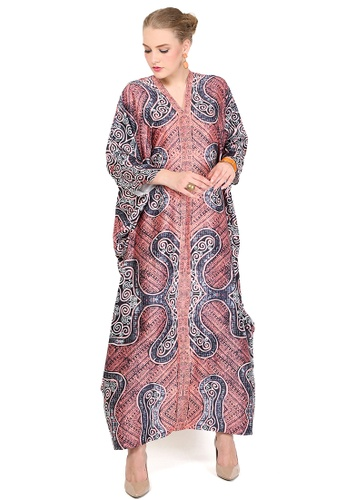 Kanzi by liza yahya pink Kanzi Exclusive Long Sleeve Batik Kaftan 4F8D3AAA83DFDAGS_1