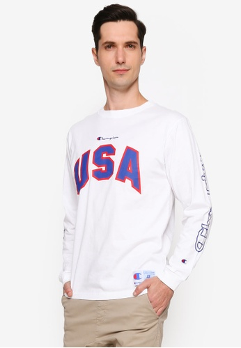 4dcf82c5 Champion white Japan Collection Action Style Long Sleeve T-Shirt  FBDA7AA9DCB6D6GS_1