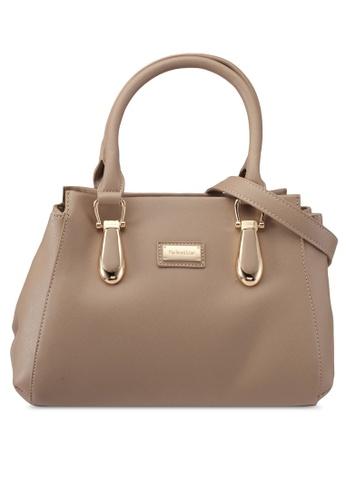 Perllini&Mel beige Double Handle Bag with Detachable Long Strap PE444AC0SIZDMY_1