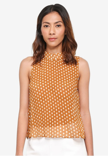 bYSI yellow Dotted Frilled Hem Blouse F8277AAB42DACFGS_1