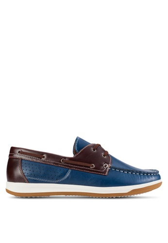 UniqTee blue Lace-Up Moccasin UN097SH96KFVMY_1
