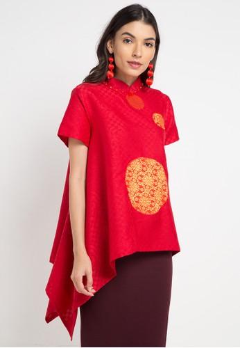 LUIRE by Raden Sirait red and multi Lz-Cheongsam A20E1AA10A5A69GS_1