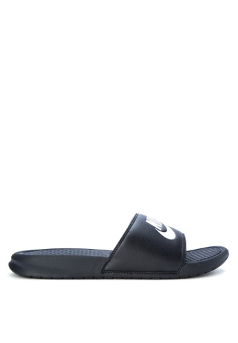 "Nike black Men's Nike Benassi ""Just Do It."" Sandals NI126SH0KANCPH_1"