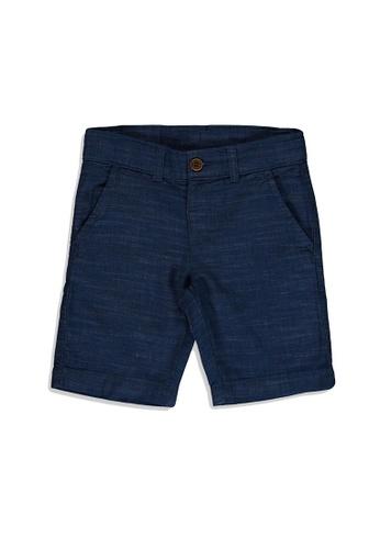 LC Waikiki blue Boy's Gabardine Shorts F69A3KAA7436E2GS_1