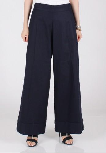 Meitavi's 2-Way Cotton Linen Culotte Jogger Pants - Navy