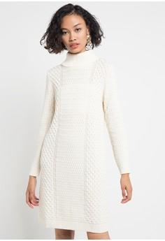 COME white Sophia Cable Knit Dress CO779AA0VPYCID 1 007ea74074