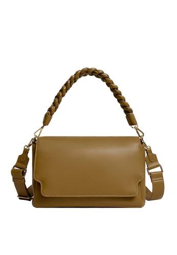 Violeta by MANGO green Twisted Strap Crossbody Bag 3294FAC65199B6GS_1