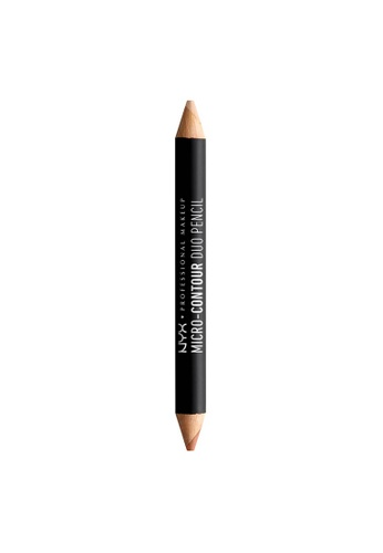 NYX Professional Makeup multi NYX Professional Makeup Micro-Contour Duo Pencil - LIGHT 46FFBBEBBAB949GS_1