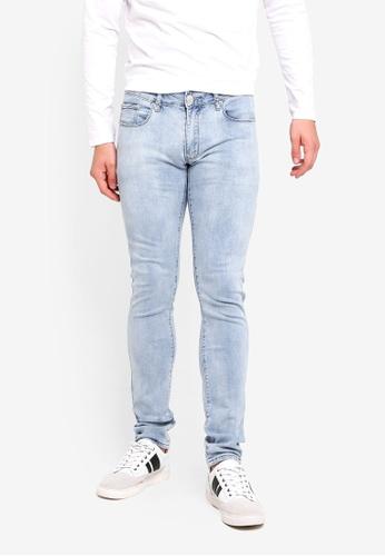 Electro Denim Lab 藍色 Indie-Skinny Jeans 4B8B9AAB46D639GS_1